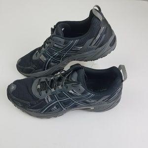 ASICS Men's GEL Venture 5 Black Gray Size 10